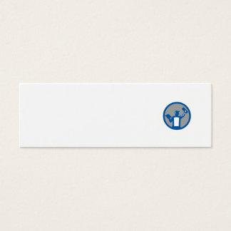 Círculo de la paleta de la albañilería del yesero tarjeta de visita mini