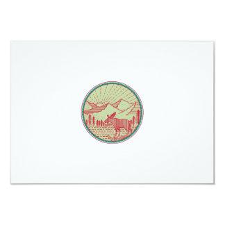 Círculo de Sun de las montañas del río de los Invitación 8,9 X 12,7 Cm