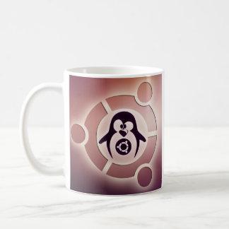 Círculo de Ubuntu Linux del logotipo de los amigos Taza De Café