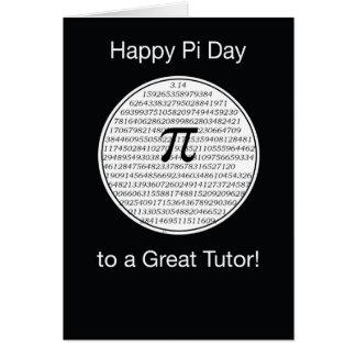 Círculo del día del profesor particular pi tarjeta de felicitación