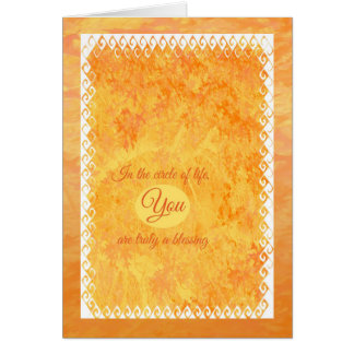 Círculo del feliz cumpleaños de la vida tarjeta de felicitación