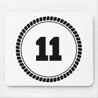 Círculo del número 11 alfombrilla de ratón