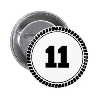 Círculo del número 11 pins