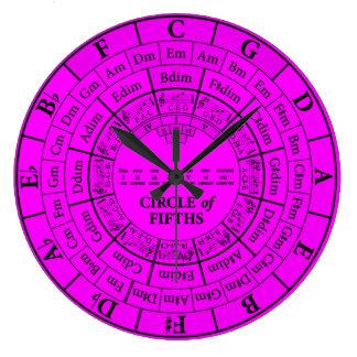 Círculo del reloj de pared grande redondo magenta
