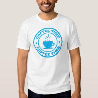 Círculo del tiempo del café A251 azul claro Camiseta