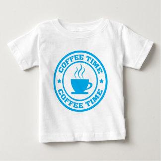 Círculo del tiempo del café A251 azul claro Camiseta Para Bebé