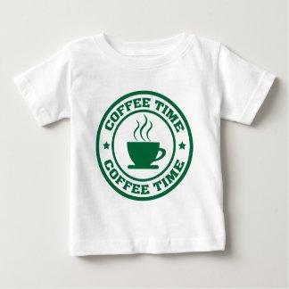 Círculo del tiempo del café A251 verde oscuro Camisas