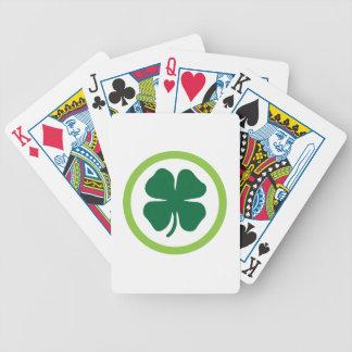 Círculo del trébol baraja de cartas