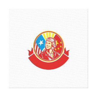 Círculo experimental de la bandera de los E.E.U.U. Impresión En Lienzo
