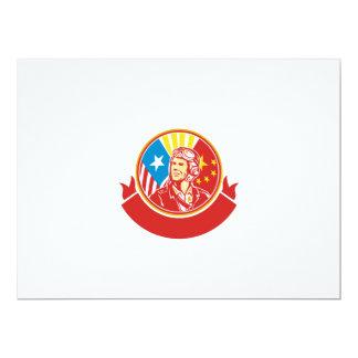 Círculo experimental de la bandera de los E.E.U.U. Invitación 16,5 X 22,2 Cm