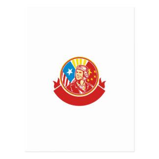 Círculo experimental de la bandera de los E.E.U.U. Postal