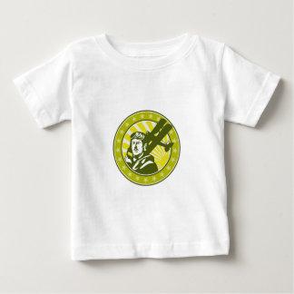 Círculo experimental del biplano de Spad del Camiseta De Bebé
