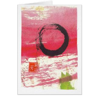 Círculo magenta del zen tarjeta