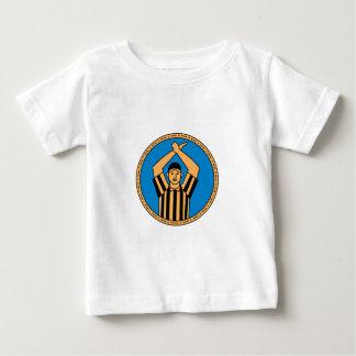 Círculo mono L de la señal de mano del árbitro del Camiseta De Bebé