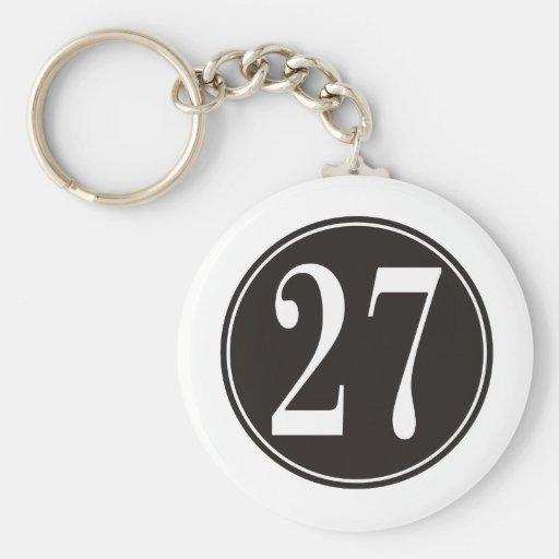 Círculo negro #27 llaveros personalizados