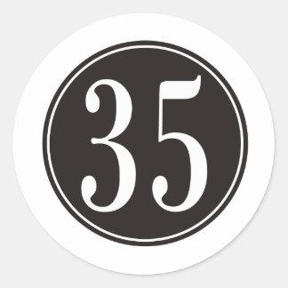 Círculo negro #35 pegatina redonda