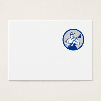 Círculo profesional del vacío del limpiador de la tarjeta de negocios