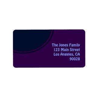 Círculo púrpura oscuro de la MOD del azul Etiquetas De Dirección