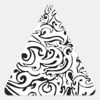 Círculo que remolina pegatina triangular