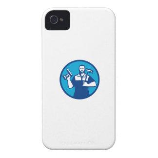 Círculo sin cuerda de Paintroller del taladro de Funda Para iPhone 4 De Case-Mate