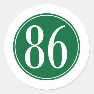 Círculo verde #86 pegatina redonda