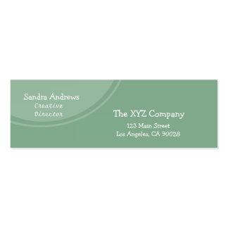 Círculo verde en colores pastel tarjeta de visita