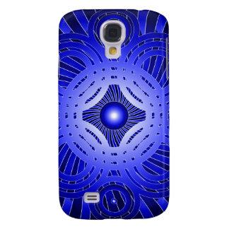 Círculos abstractos azules: funda para samsung galaxy s4