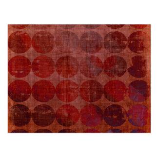 Círculos abstractos: Plantilla de encargo: Postal