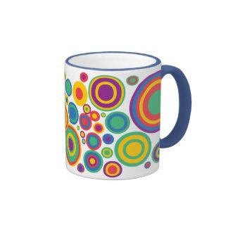 Círculos abstractos taza de café
