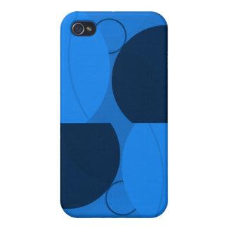 Círculos azules iPhone 4 protectores