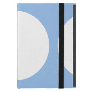 Círculos blancos en azul claro iPad mini cárcasas