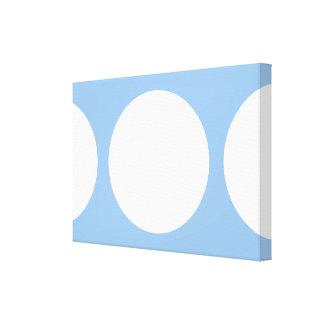 Círculos blancos en azul claro impresion de lienzo
