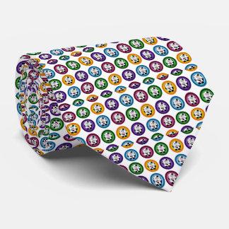 Círculos bonitos de la vaca corbatas personalizadas