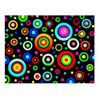 Círculos coloreados postal