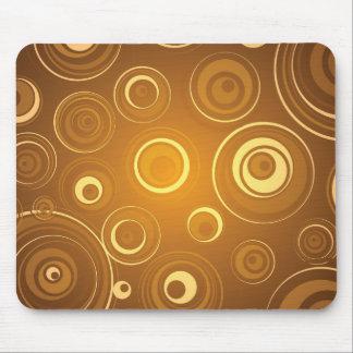 Círculos concéntricos del vector anaranjados alfombrilla de ratón