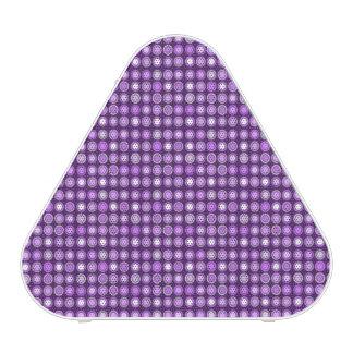Círculos concéntricos púrpuras retros altavoz