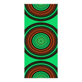 Círculos contemporáneos del naranja y del verde diseños de tarjetas publicitarias