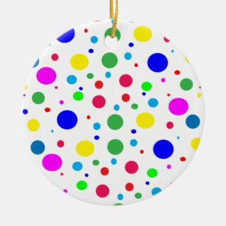 Círculos de color alegres adorno redondo de cerámica