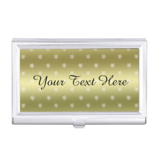 Círculos de la cosecha del oro del personalizar cajas de tarjetas de visita