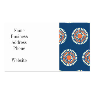 Círculos decorativos de la mandala azul y tarjetas de visita