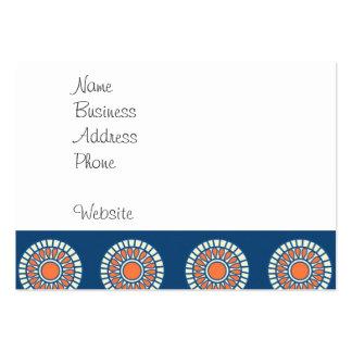 Círculos decorativos de la mandala azul y tarjetas de visita grandes