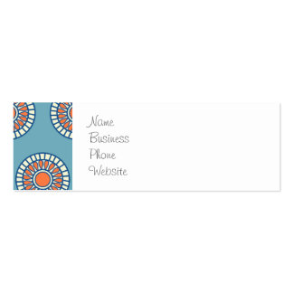 Círculos decorativos de la mandala azul y tarjetas de visita mini
