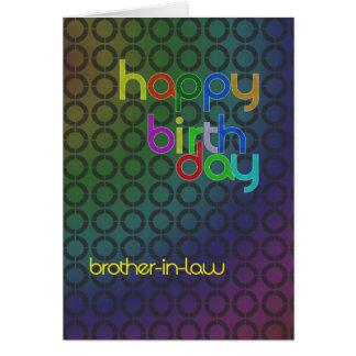 Círculos del cumpleaños para el cuñado tarjeta de felicitación