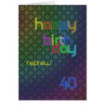 Círculos del cumpleaños para el sobrino envejecido felicitación