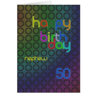 Círculos del cumpleaños para el sobrino envejecido tarjeta de felicitación