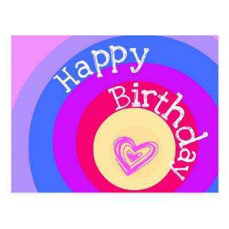 Círculos del feliz cumpleaños postal