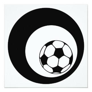 círculos del fútbol invitación 13,3 cm x 13,3cm