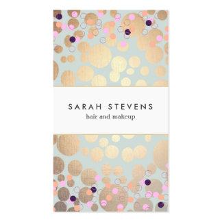 Círculos del oro y salón de belleza del modelo del tarjeta personal