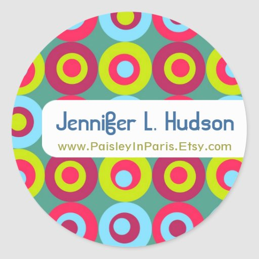 Círculos festivos que comercializan etiquetas pegatina redonda