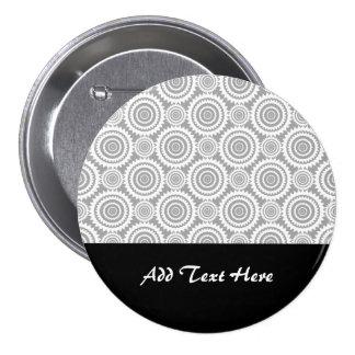 Círculos geométricos elegantes modernos grises y pins